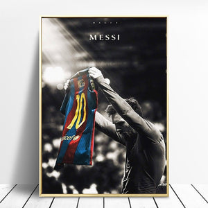 Lionel Messi Retro Poster in Canvas or Acrylic