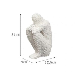 LUXURY ABSTRACT THINKER MOSAIC MAN STATUE