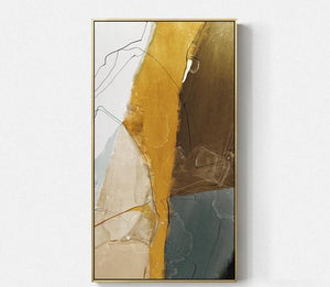 Modern Abstract Gold Canvas Handmade Painting