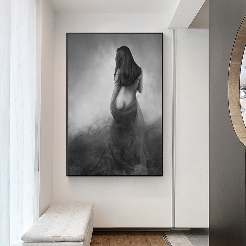 Modern Half Nude Women  Wall Art