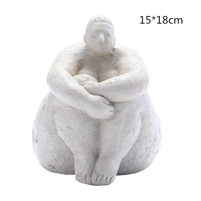 Nordic Fat Lady Modern Statues