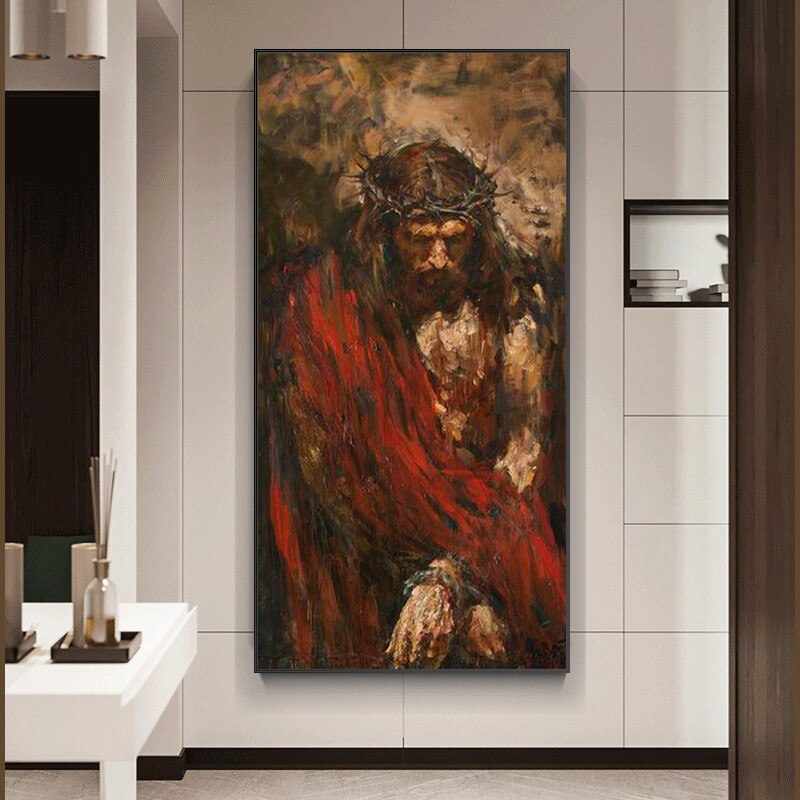 Jesus Christ Art-Printed in Canvas
