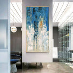 Blue Modern Abstract Oil Painting
