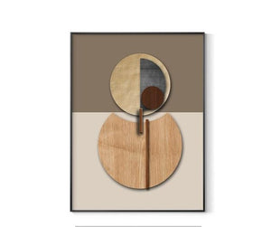 Abstract Geometric Wall Art-No Frame