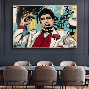 Scarface_Tony Montana Poster print in Canvas
