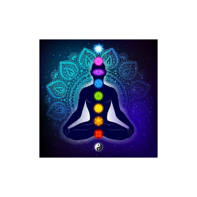 Indian Buddha Meditation 7 Chakra Yoga Canvas Prints