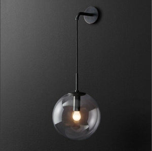 Nordic round glass ball wall lamp