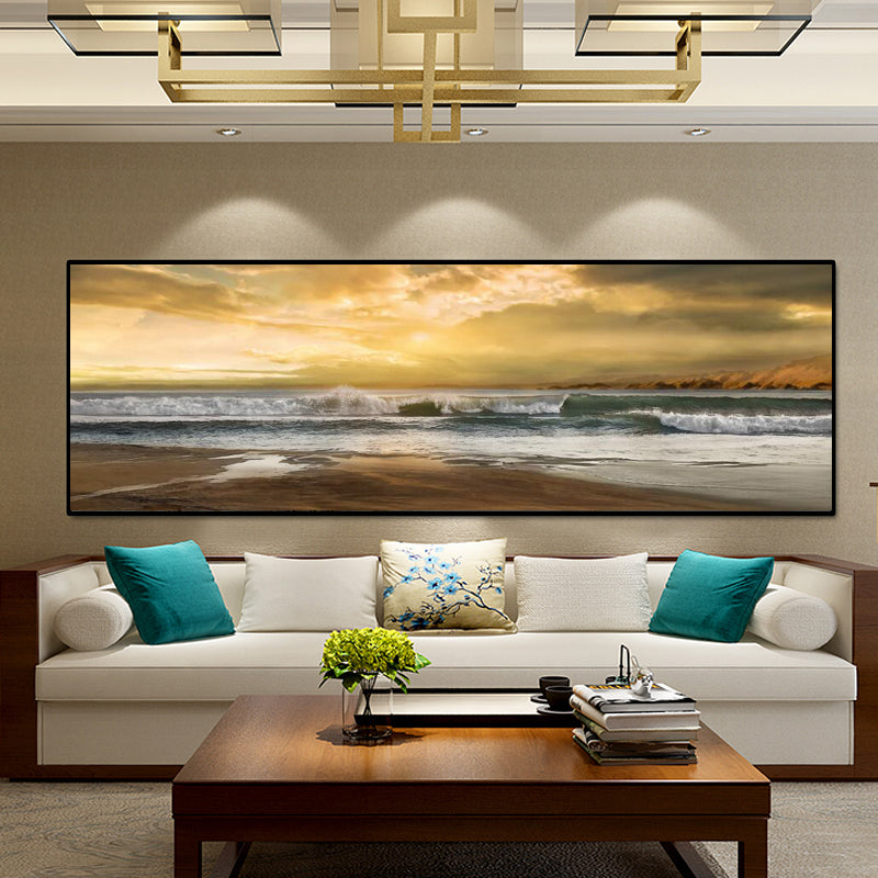 Modern Abstract Beach Landscape Posters
