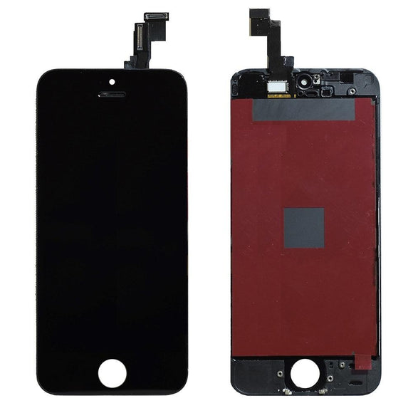For iPhone 5SE | 5S LCD & Digitizer (Aftermarket, Premium Plus) - Black