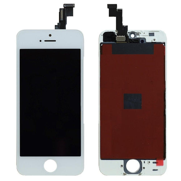 For iPhone 5SE | 5S LCD & Digitizer (Aftermarket, Premium Plus) - White