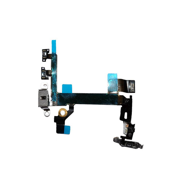 For iPhone 5S Power Flex Cable with Volume | Vibrator Switch | Dual LED Flash | Mic Connectors