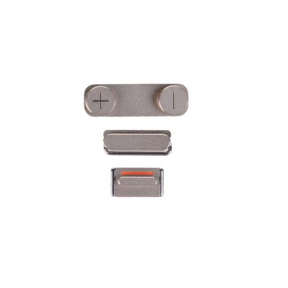 For iPhone 5S | SE Power/Volume/Mute Button - Silver