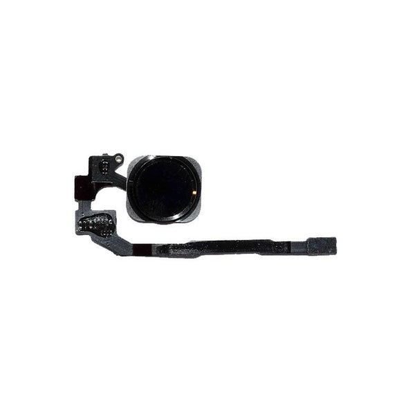 For iPhone 5S Home Button With Flex Cable - Black