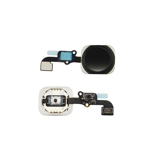 For iPhone 6 | 6 Plus Home Button Key with Flex Cable Dummy - Black