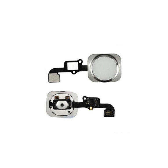 For iPhone 6 | 6 Plus Home Button Key with Flex Cable Dummy - Silver
