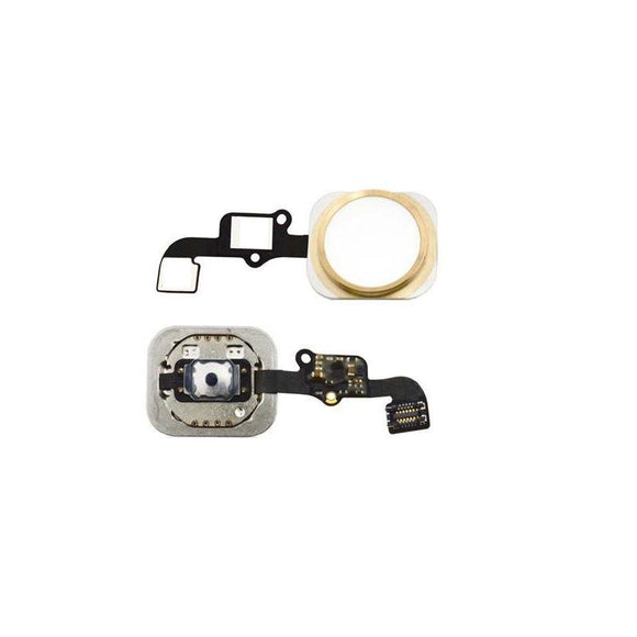 For iPhone 6 | 6 Plus Home Button Key with Flex Cable Dummy - Gold