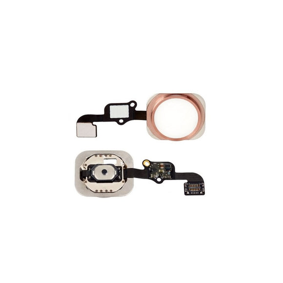 For iPhone 6S Plus | 6S Home Button Key with Flex Cable Dummy - Rose Gold