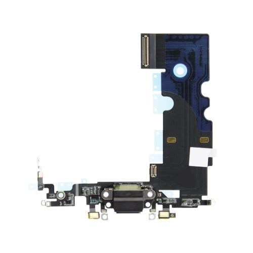 For iPhone 8 Charging Port with Flex Cable, Headphone Jack and Microphone - Black