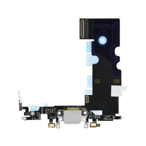 For iPhone 8 Charging Port with Flex Cable, Headphone Jack and Microphone - White