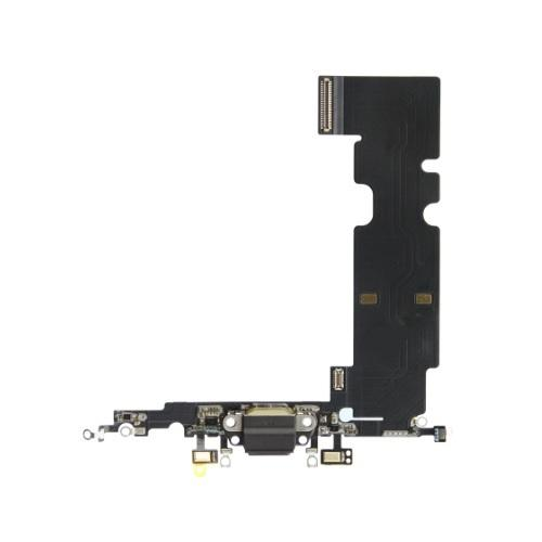 For iPhone 8 Plus Charging Port with Flex Cable, Headphone Jack and Microphone - Black