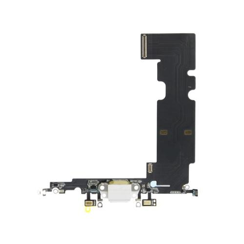 For iPhone 8 Plus Charging Port with Flex Cable, Headphone Jack and Microphone - White