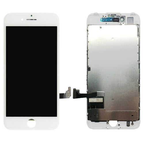 For iPhone 8 | SE 2020 LCD & Digitizer & Pre-installed Metal Back Plate (Aftermarket, Premium Plus) - White