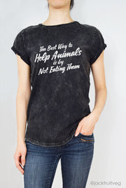 Best Way to Help Animals Rolled Sleeve Tee