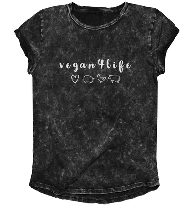 Vegan 4 Life Rolled Sleeve Tee