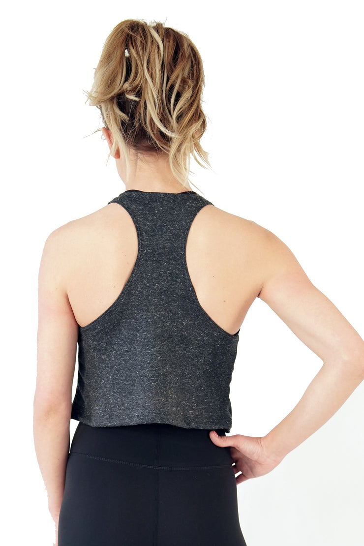 Loring Crop Tank- Charcoal - MAI Movement