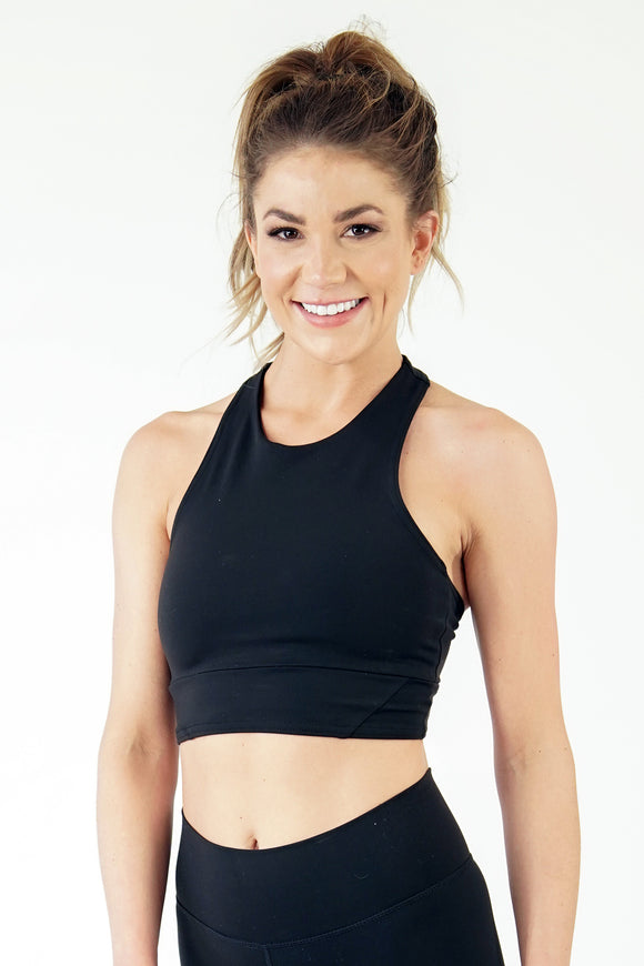 Lyn-Lake True North Crop Bra- Black