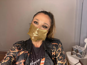 GOLD METAL MASK