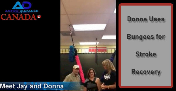 Donna Uses AstroDurance Bungees for Stroke Recovery