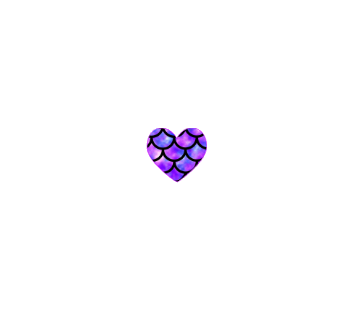 Purple Mermaid Heart