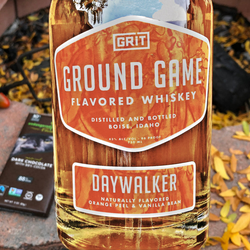 bottle of grit ground grame whiskey and smores