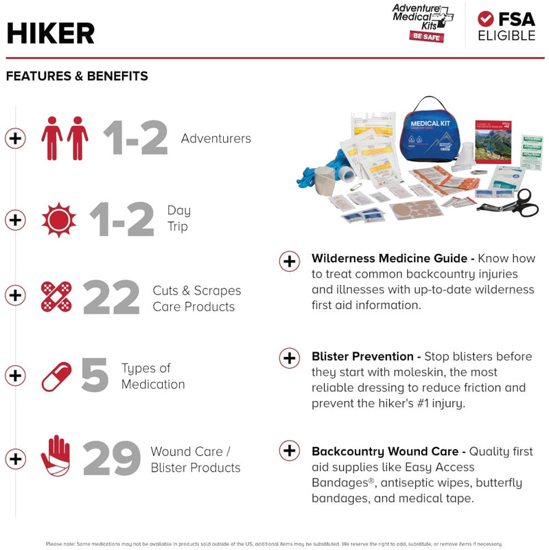 Adventure Medical hiker Kit -- features view
