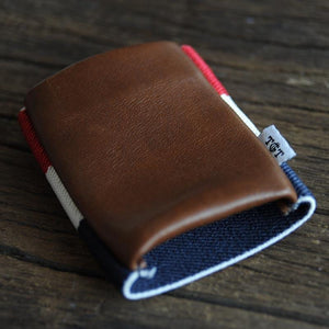 Americana 2.0 Wallet, empty on wood table