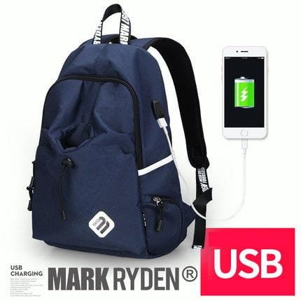 Collegiate Edition Backpack--deep blue--USB port