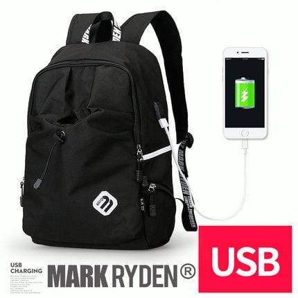 Collegiate Edition Backpack--black with USB charging port
