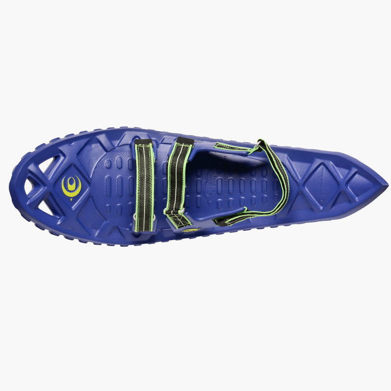 crescent moon snowshoes luna blue--top view