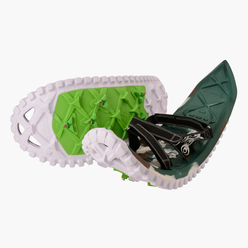 crescent moon snowshoes eva camo--pair view