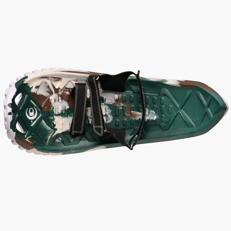 crescent moon snowshoes eva camo--top view