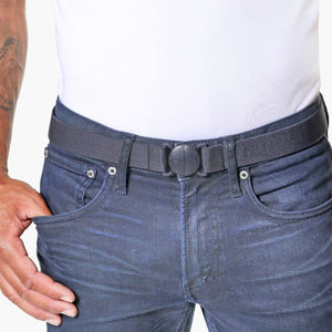 Denim Navy Blue Elastic Belt