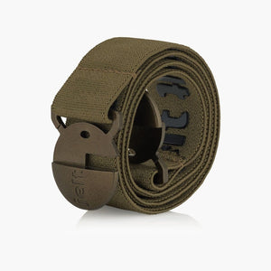 Jelt Khaki Green Elastic Belt--rolled