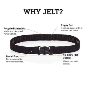 Jelt Khaki Green Elastic Belt--features