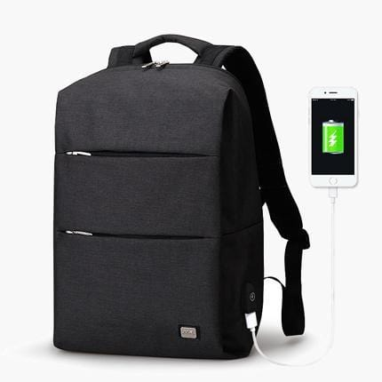 The Edge Backpack--Black--front