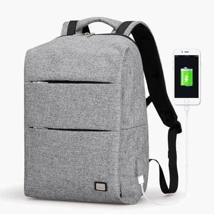 The Edge Backpack--Grey--front