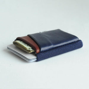 Midnight & Oxblood Accent Deluxe Wallet