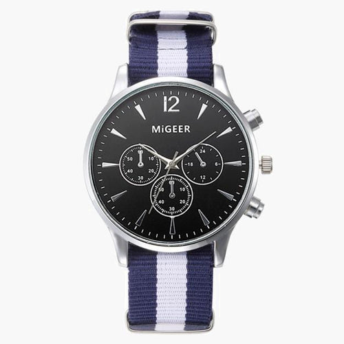 French Canvas Band Watch