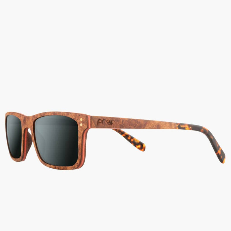 Boise Wood Rosewood/Polarized Lens--left front side view