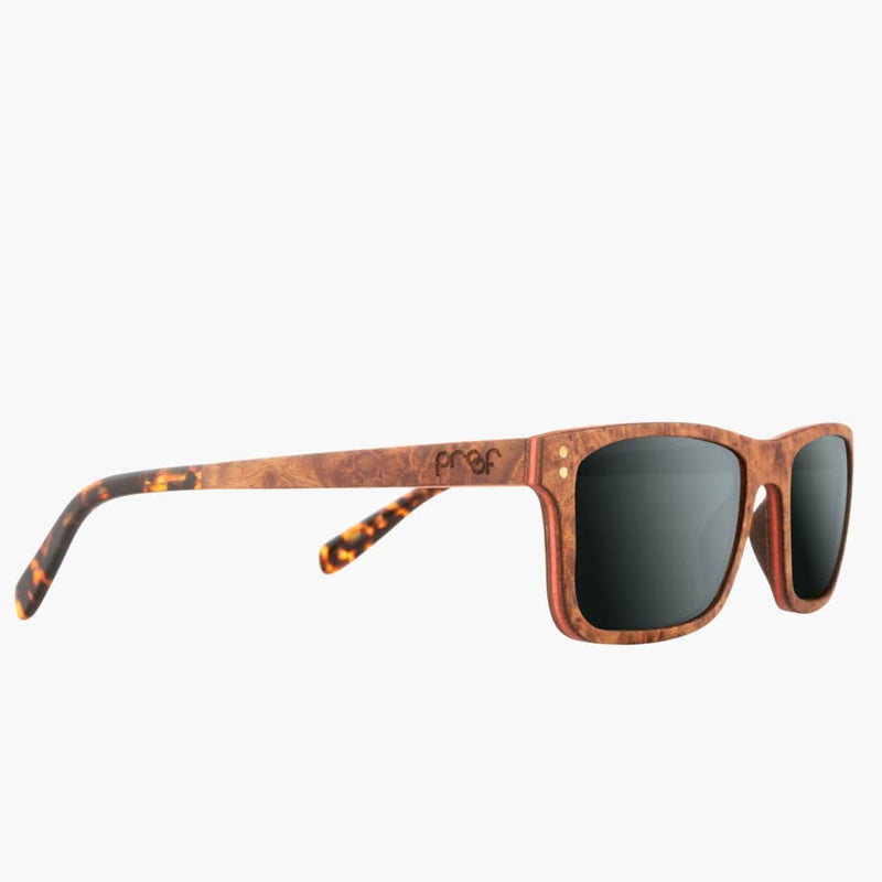 Boise Wood Rosewood/Polarized Lens--right front side view